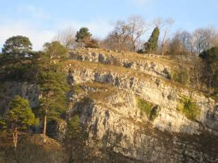 Limestone cliffs at Loggerheads