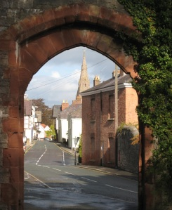 View of Ruthin from castle gatehouse