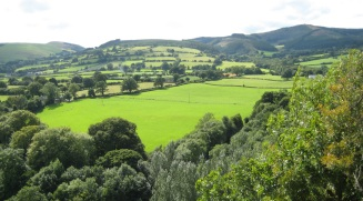View from Loggerheads towards Moel Famau