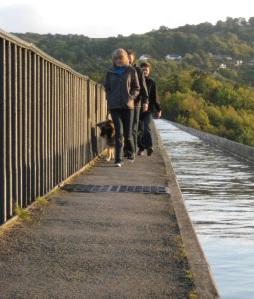 Walking on Pontcysyllte Aqueduct